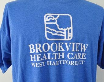 Burnout Super Soft n Thin Royal Blue Tshirt Hartforfd CT Connecticut XL