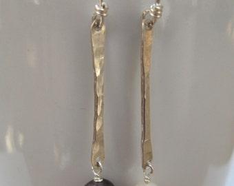Pearl Earrings, Simple and Elegant Pearl and Silver Earrings