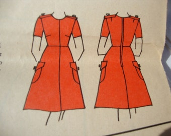 Vintage Summer Day Dress 1960s Family Circle In Book Pattern- Trace and Make Pattern Sz 6-16