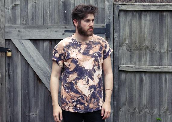 Sale unisex oversized grunge acid wash t shirt tee for Custom acid wash t shirts