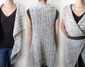 Rectangular Vest - 9 sizes - PDF Crochet Pattern - Instant Download