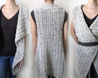 Rectangular Vest - 9 sizes - PDF Crochet Pattern - Instant Download