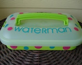 Personalized Lime Rectangle Cake Carrier