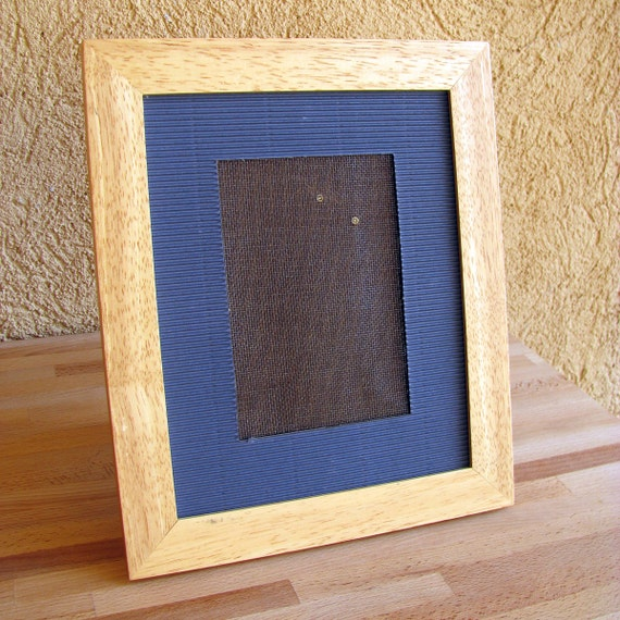 Jewelry Display Wood Blue Earring Holder Repurposed Picture Frame Standing Storage Organization Maple Bedroom Decor