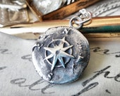 Nautical Star Wax Seal Pendant, Compass Rose Talisman Charm, Friendship Necklace, Gifts for Girls, Gifts for Grads,