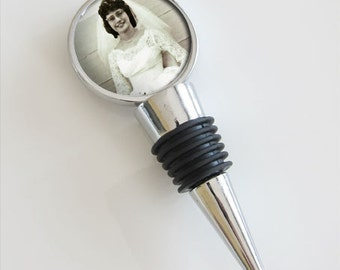 Photo Wine Bottle Stopper Top