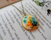Jemima. vintage floral cameo necklace