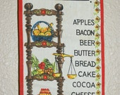 What Do I Need Banner - Vintage Kitchen Linen Wall Hanging