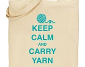 Keep Calm and Carry Yarn - Teal - INSTANT DOWNLOAD - Digital Download JPG