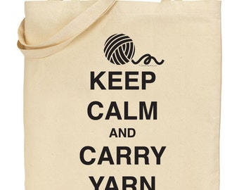 Keep Calm and Carry Yarn - Black - INSTANT DOWNLOAD - Digital Download JPG