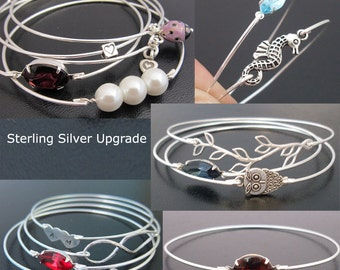 Sterling Silver Bangle Band Upgrade... Upgrade Your Bangle Band From Silver Filled to Sterling Silver. 10 Dollars per Bangle Band Upgraded