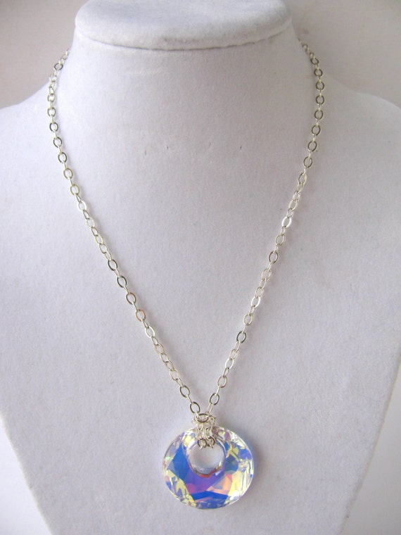 Swarovski Crystal AB Victory Go-Go Pendant and Chain