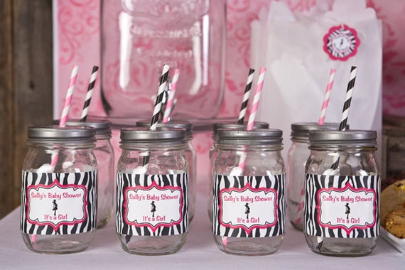 Water Bottle Labels   Baby Shower Decorations   Mom To Be Theme In Hot Pink  U0026 Zebra (12) From Getthepartystarted On Etsy Studio