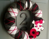 Yarn Wreath Felt Handmade Door Decoration - Pirates Booty 12in