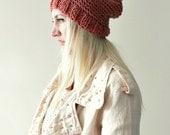 Pom Pom Beanie Womens Knit Beanie Womens Winter Hat Chunky Knit Beanie Womens Gift for Her Winter Fashion Wool Hat Red Winter Accessories
