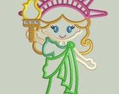 Lady Liberty Applique Design