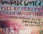 Wonderful World - inspirational paper print