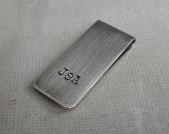 Money Clip Personalized Mens Money Clip Custom Initials Skinny Moneyclip