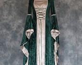 Rowena, a Medieval, Pagan, Elvish Custom Made Hand Fasting, Wedding Dress