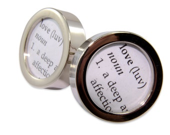 Dictionary Definition of LOVE Cuff links by Gwen DELICIOUS Jewelry Design