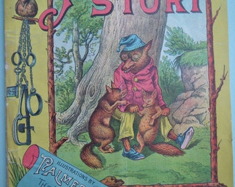 Palmer Cox The Fox's Story 1897 E. Veale US antique illustrated children's book vintage animal stories