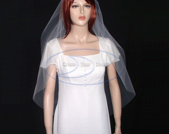 "Cut edge veil waltz Veil 52""  available in White, Diamond white, Light Ivory, Ivory, and Champagne"