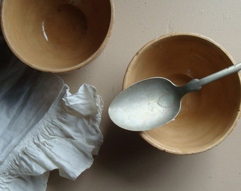 vintage custard cups, pottery, caramel cream a farmhouse kitchen ovenware