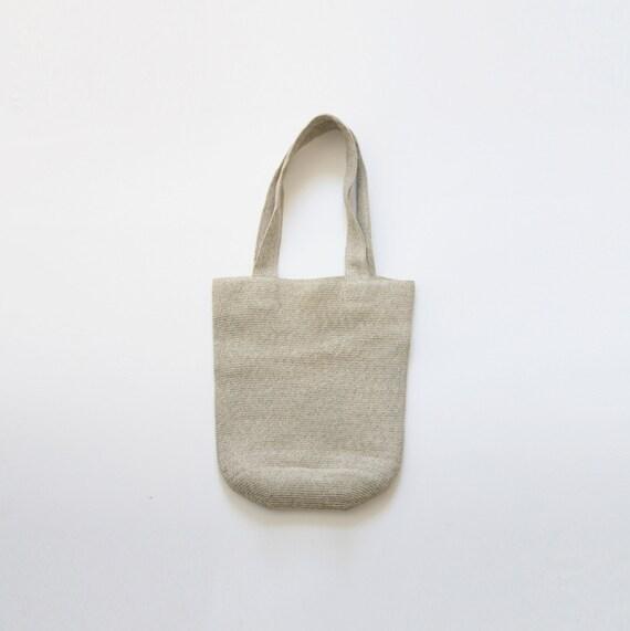 vintage woven tote / vtg straw market bag