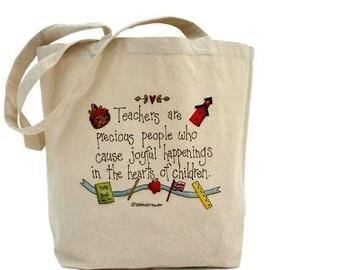 Teacher Tote Bag - Cotton Canvas Tote Bag - Teacher Appreciation - Teacher Bag - Gift Bags - Gift For Teachers