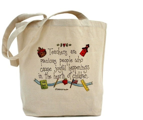 Teacher Tote Bag Cotton Canvas Tote Bag Teacher
