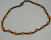 Light Orange color Flower Anklet Bracelet