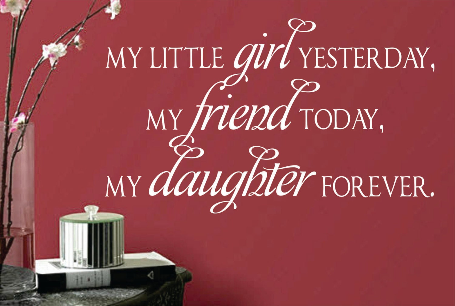 vinyl wall lettering daughter forever by wallsthattalk on etsy