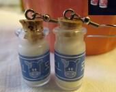Legend of Zelda Jewelry - Handmade Milk Bottle Earrings Lon Lon Ranch & Chateau Romani