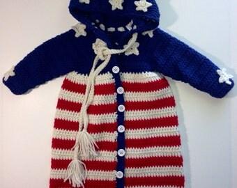 Patriotic Baby Bunting