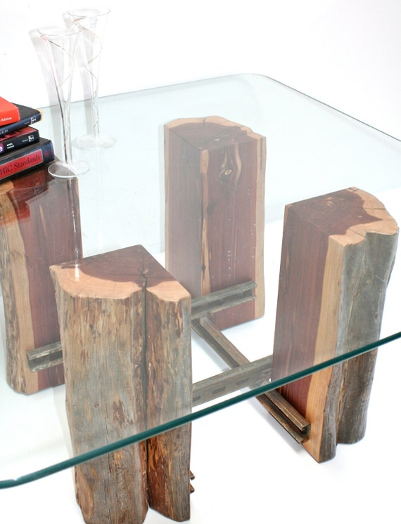arbre souche table basse bois r cup r base par realwoodworks1. Black Bedroom Furniture Sets. Home Design Ideas