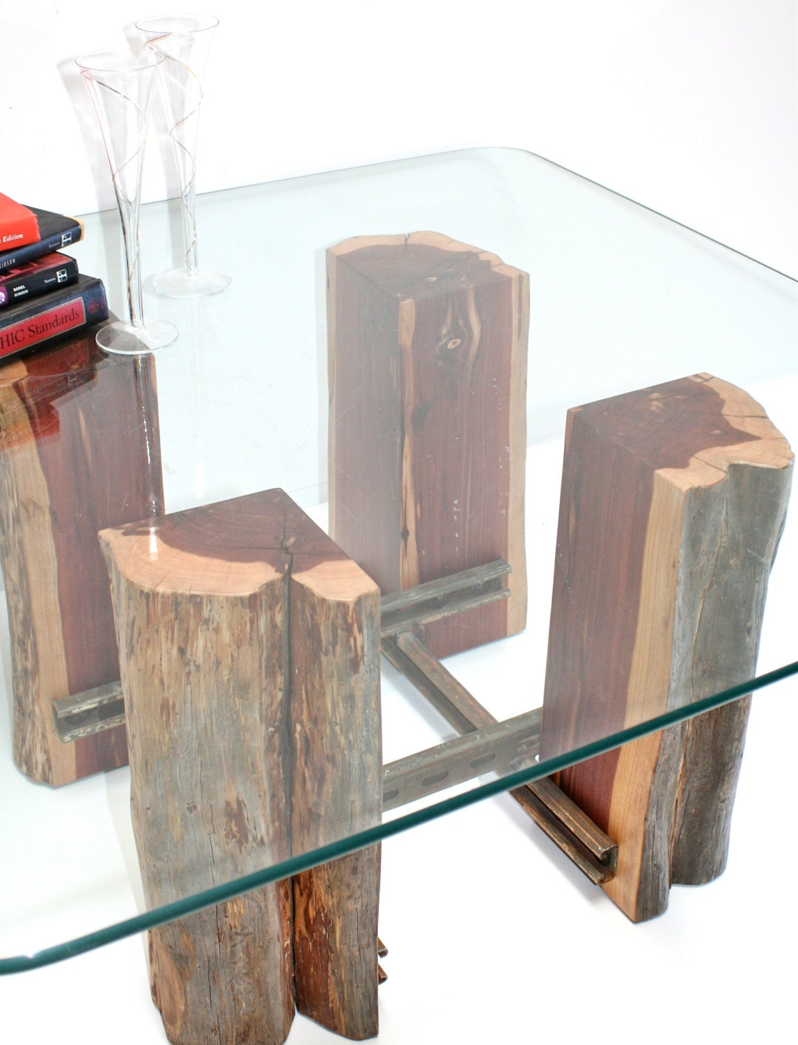 tree stump coffee table base reclaimed wood by realwoodworks1. Black Bedroom Furniture Sets. Home Design Ideas