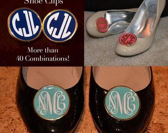 Custom Monogram Shoe Clips