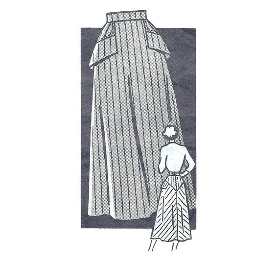 1950s Womens Skirt - Marian Martin 9380 Mail Order Vintage Sewing Pattern - 26 Waist
