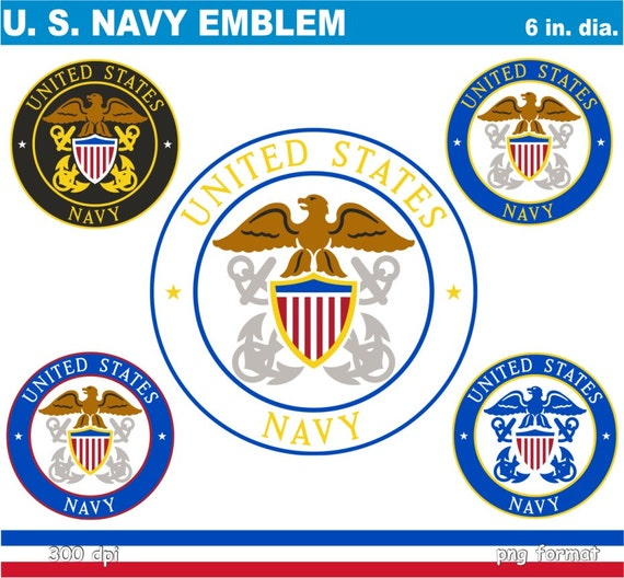 Digital Clipart U.S. Navy Emblem 5 PNG