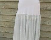 Simple pale blue slip petticoat underlayer