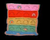 Child's Rainbow Afghan