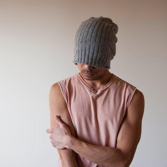 Hand Knit Hat for Men - Shear Alpha