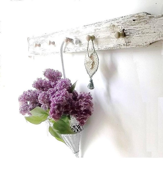Country Cottage Picket Fence Wall Coat Hook. Peg Hangers. Shabby Chic Style