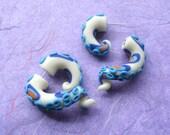 Blue Ringed Octopus Tentacle Fake Gauge Earring -Glow in the Dark- Poision-