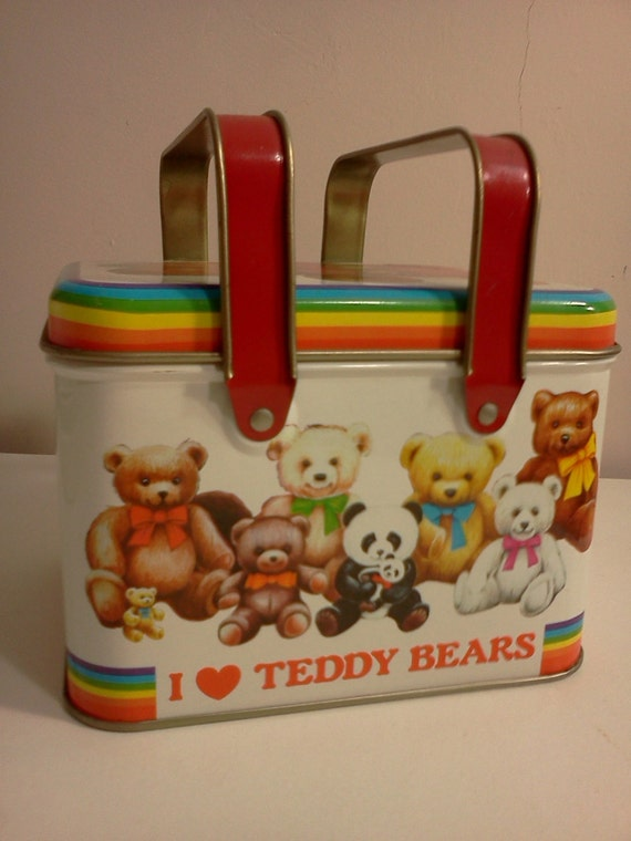 Teddy Bear Lunch Box by Cheinco 1984