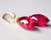 Patisserie Earrings - Red Topaz