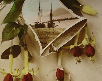 Hand Tinted Real Photo Postcard - Many Happy Returns