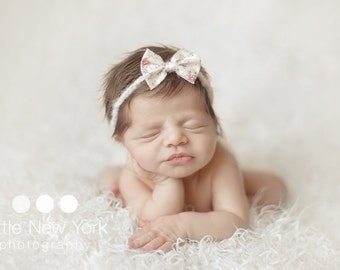 Newborn halo with bow. 8 bows to choose from