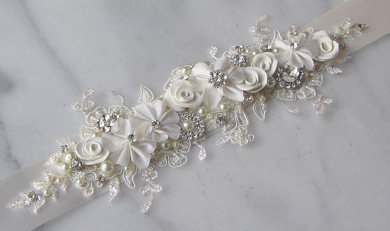 Ivory Lace Bridal Sash Ivory Wedding Belt By Theredmagnolia