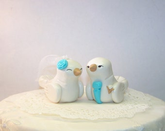 Custom Love Bird Wedding Cake Topper Birds - Custom Choice of Colors